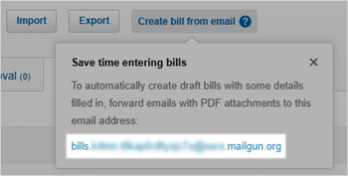Unique bills email address